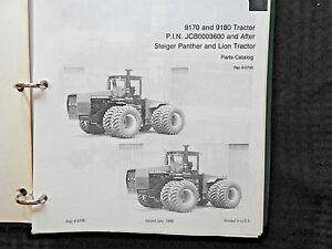 Case Ih Steiger Panther Lion 9170 9180 Tractor Parts Catalog Manual Very Nice