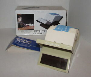 Vintage Rolodex V glide File Gl 24 500 Cards 2 1 4x 4 Desktop Addresses