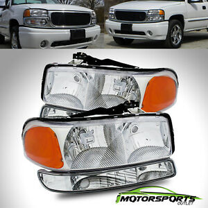 Fit 1999 2006 Gmc Sierra Yukon Xl Oe Style Headlights Bumper Signal Lights