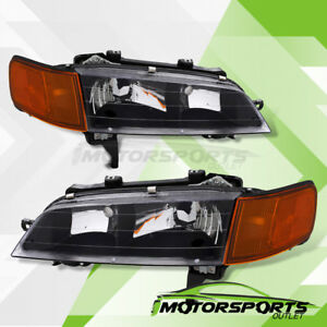 For 1994 1995 1996 1997 Honda Accord Coupe Sedan Factory Style Black Headlights