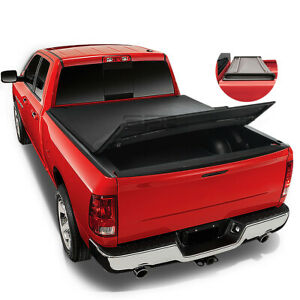 For 2002 2016 Dodge Ram 1500 2500 3500 8 Ft Long Bed Soft Tri fold Tonneau Cover