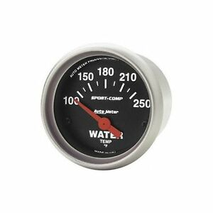 Auto Meter Sport Comp Electric Water Temp Gauge 100 250f 2 5 8 Short Sweep