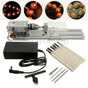 Mini Lathe Beads Polisher Machine 24v 96w For Table Woodworking Wood Diy Tools