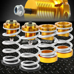 For 06 11 Honda Civic 1 4 Adjustable White Spring Coilover Suspension Lowering