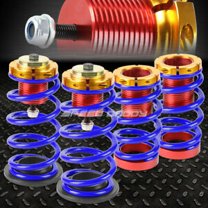 For 12 15 Honda Civic 1 4 Adjustable Blue Spring Coilover Suspension Lowering