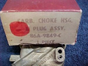 Nos 56 57 Ford Thunderbird Dual Quad Supercharge Carburetor Choke Housing