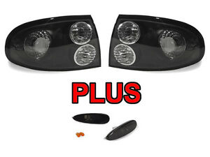 Monaro Black Clear Tail Smoke Bumper Side Marker Lights For 04 05 06 Pontiac Gto