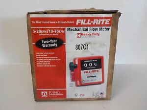 Tuthill 807c1 New Fill rite Mechanical Flow Meter 807c1