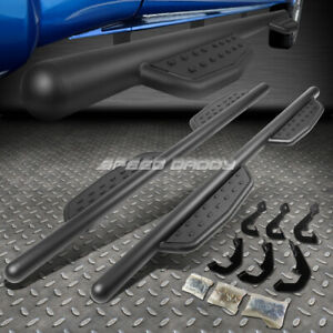 For 07 17 Silverado Sierra Extended Cab 3 Black Step Bar Nerf Running Boards