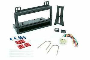 Single Din Dash Kit For Car Radio Stereo Install W Wire Harness And Connectors