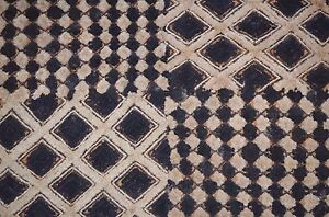 Antique Kuba Cloth Raffia Textile African Tribal Money Currency Congo Africa