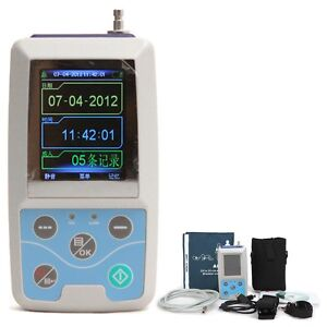 Ce 24hrs Ambulatory Blood Pressure Holter Monitor Abpm Holter Nibp Mapa Spo2 Pr