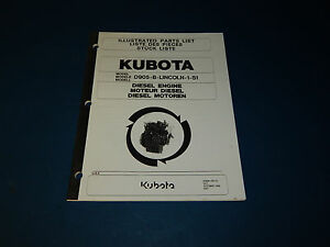Kubota Model D905 b lincoln 1 s1 Part List Catalog Diesel Engine D905blincoln1s1