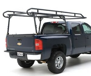 Smittybilt 18604 Universal Textured Black Contractors Rack For Full Size Trucks