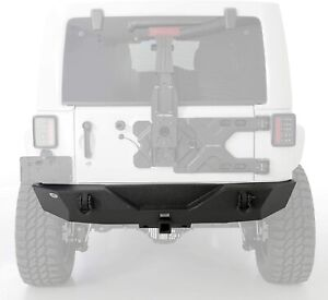Smittybilt 76855 Textured Black Xrc Rear Bumper W Hitch For Jeep Wrangler Jk
