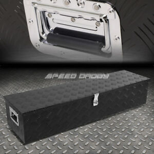 49 x13 x10 Black Aluminum Pickup Truck Trunk Bed Tool Box Trailer Storage lock