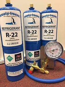 R22 Refrigerant R 22 Air Conditioner 3 28 Oz Cans Large Recharge Kit