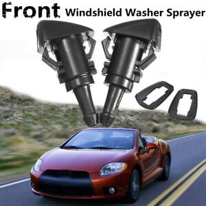2x Front Windshield Wiper Nozzle Water Spray Washer For 06 12 Mitsubishi Eclipse