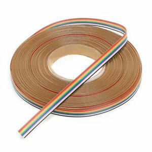 10way 50way Dupont Wire Flat Flexible Rainbow Ribbon Pcb Cable Pitch 1 27mm Il