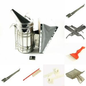 7pcs Kit Beekeeping Equipment Tool Bee Brush Catcher Fork Cage Queen Hive Tools