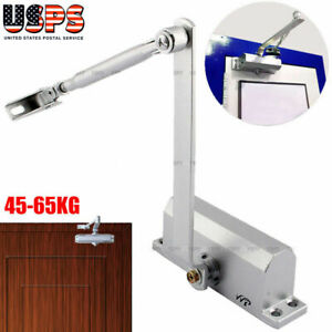 45 65kg Automatic Commercial Door Closer Two Independent Valves Control Silver