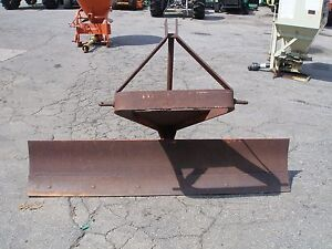 6 Foot Angle And Slider 3 Point Hitch Scrape Blade