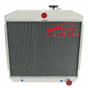 4row Aluminum Radiator For 1955 1956 1957 Chevy Bel Air nomad 55 56 57 Warranty
