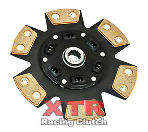 Xtr 6 puck Ceramic Sprung Clutch Disc 240mm Dodge Conquest Tsi Mitsu Starion Esi