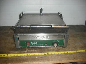 Waring Commercial Panini Supremo Grill Model Wdg250 120v Project