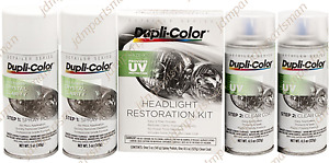 Dupli color Hlr100 Headlight Restore Restoration And Uv Coating Spray Kit 2 pack