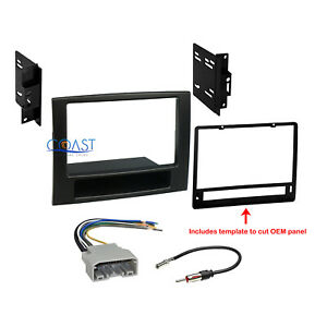 Car Radio Stereo Double Din Dash Kit Wire Harness For 2006 2008 Dodge Ram