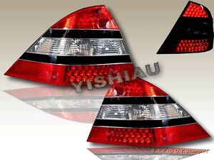 00 05 Mercedes Benz W220 S class Led Red Clear Tail Lights Rear Lamp Assembly