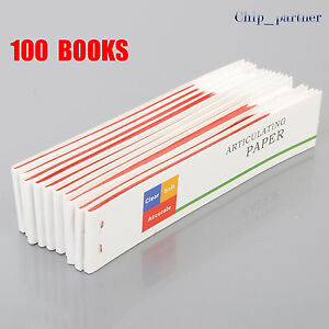 100 Book Dental Articulating Paper Red Thin Strip Dentist Material Oral Care Lot