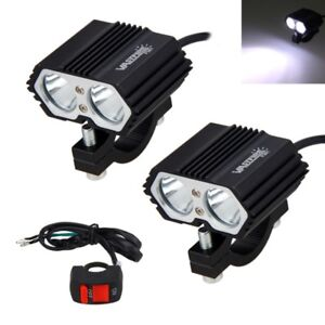2x 30w 2x Xml T6 Motorcycle Led Driving Headlight Fog Lamp Spot Light Switch