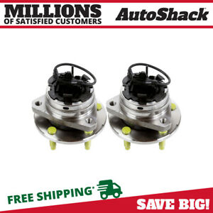 Front Pair 2 Wheel Hub Bearing Assemblies 5 Stud Fits 2004 2012 Chevrolet Malibu