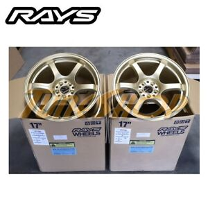 Rays Gramlights 57dr 17x9 38 5x100 Wheels Rims For Toyota Frs 86 Ft86 Brz Gold