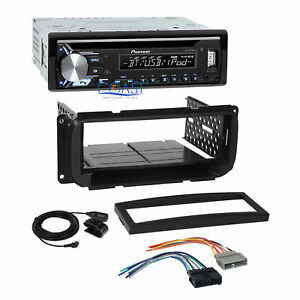 Pioneer Usb Bluetooth Stereo Dash Kit Harness For 1998 up Chrysler Dodge Jeep