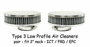 Vw Type 3 Dual Carb Weber Ict Dellorto Frd Empi Epc Low Air Cleaners Filters