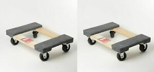 2 Pack Furniture Moving Dolly 12 x18 Movers Heavy Duty Caster Appliance Pro