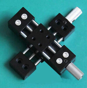 Xy Axis Manual Stage Sliding Table Micro Adjustable Platform 20x20mm Cross Type