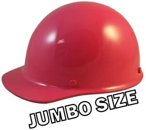 Msa Skullgard Large Shell Cap Style Hard Hats With Ratchet Suspension Hot Pink