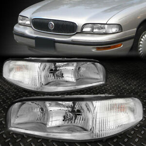 For 1997 1999 Buick Lesabre Chrome Housing Headlight clear Side Turn Signal Lamp