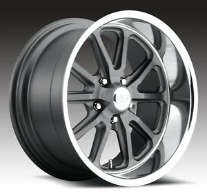18x8 Us Mag Rambler U111 5x4 5 Et1 Gunmetal Matte Rims New Set Of 4