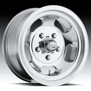 15x8 Us Mag Indy U101 5x4 5 Et 12 Polished Rims New Set Of 4