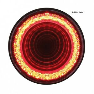 24 Led 4 Round Mirage Stop Turn Tail Light Red Led Clear Lens