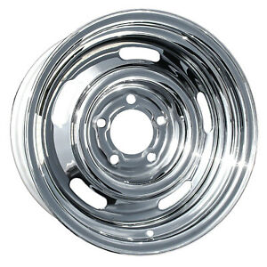 New Aftermarket 15x8 Chrome Rally Wheel For 1969 1982 Chevy Corvette