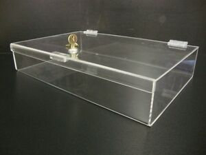 16 X 10 X 3 Acrylic Lucite Locking Security Show Case Safe Display Case