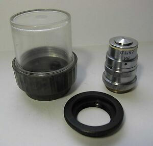 Lomo Achromat Objective 85x 1 0 Water I With Correct Ring Microscope Zeiss