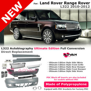 For Range Rover 10 12 Ultimate Edition Front Rear Bumper Side Skirts Tail Pipe