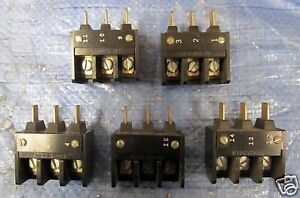 Lot 5 General Electric 3 Pole Contact Block 973c121 h2 Or 973c121h2